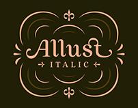 Allust Italic Font (Free Trial)