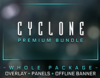 Cyclone Twitch Overlay Template with facecam and alerts