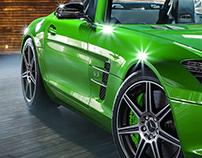 CGI - SLS roadster - Domeble HDRI