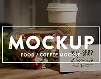 Food and Coffee PSD mockups