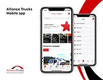 Alliance trucks - Mobile app