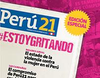 Suplemento para Diario Perú21 - Campañas #NIUNAMENOS
