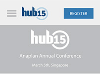 Anaplan Hub 15 Conference Site Wireframes