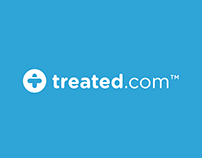 Treated.com logo design