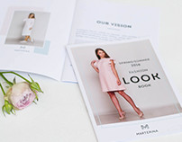 Дизайн Lookbook  коллекции для бренда женской одежды