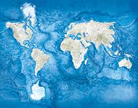 Topographic Sea map