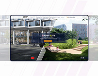 Website concept for living complex «Happy City»