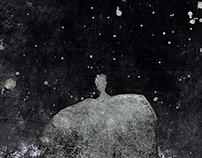 dark illustrations mixed media