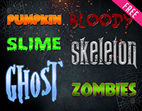 FREE Halloween Text Styles IN PSD