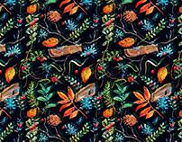Watercolor seamless textile design