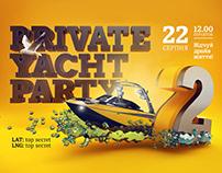 Постер для вечеринки на яхтах