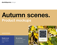 Autumn natural scenes. Product Mockups