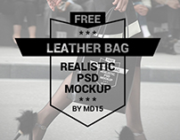 Leather Bag - Free PSD Mockup