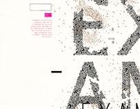 SINESTESIA  I  Desplegable Tipográfico