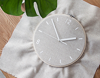Fabric Clock for munito
