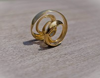 Toroidal Rotation 3D Printed in 18k Gold 2017