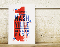 Nashville Music City: Letterpress