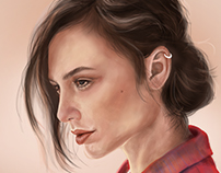 Digital Painting . Gal Gadot