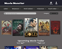 Movie Monster web Layout