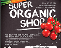 Organic Shop Promotion Flyer Template