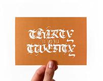Postcard THIRTY IS THE NEW TWENTY