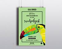 Cartel Exposición Sweetpolyart Sala Siroco