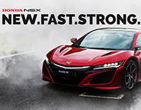Honda NSX Poster Design