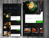 Restaurant booking concept