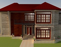 3D Villa Spanish House