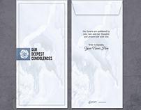 Customized Condolences Envelope by Artemoi