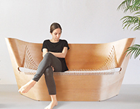 Wing Sofa Inspired by Nike of Samothrace