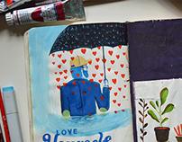 Love yourself - Sketchbook