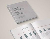 En la Intimidad del Artista - Diagramación de libro