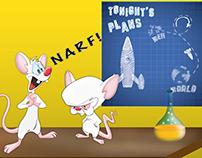 Illustrations Warner Bros 90's Cartoons Series