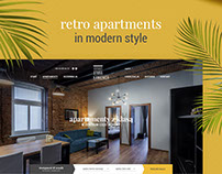 Retro apartments in modern style