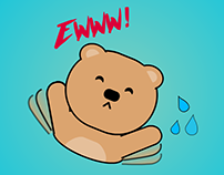 Animated Stickers Bear Pack