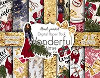 Wonderful Time, Craft Supplies, Nordic Pattern