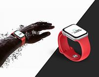 Free PSD Apple Watch series 5 waterproof mockup