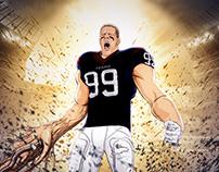 Portrait of JJ Watt for NFL Networks