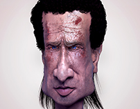 Rick Grimes Caricature (The walking Dead)Andrew lincoln