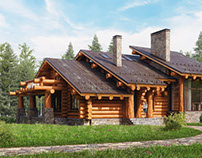 Siberian Cedar log home