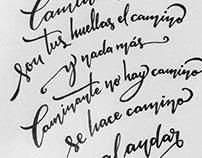 Prácticas de Caligrafía y Lettering
