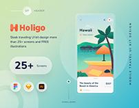 Holigo mobile UI kit