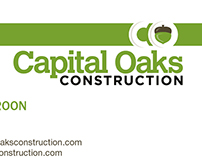 Capital Oaks Construction Business Cards