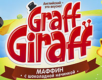 "Design concept for children's muffins ""Graff Giraffe"""