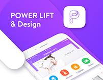Online retailers APP POWER LIFT Design