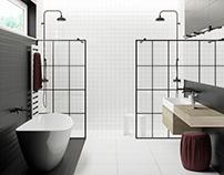 Black & white bathroom #ceramicaVOGUE