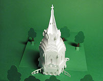 Paper architecture pop up cards