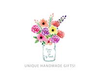 Flowers in a Jar | Logo Design & Animation