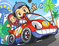 Game Concept Art For Salim&Silmy Race Championship